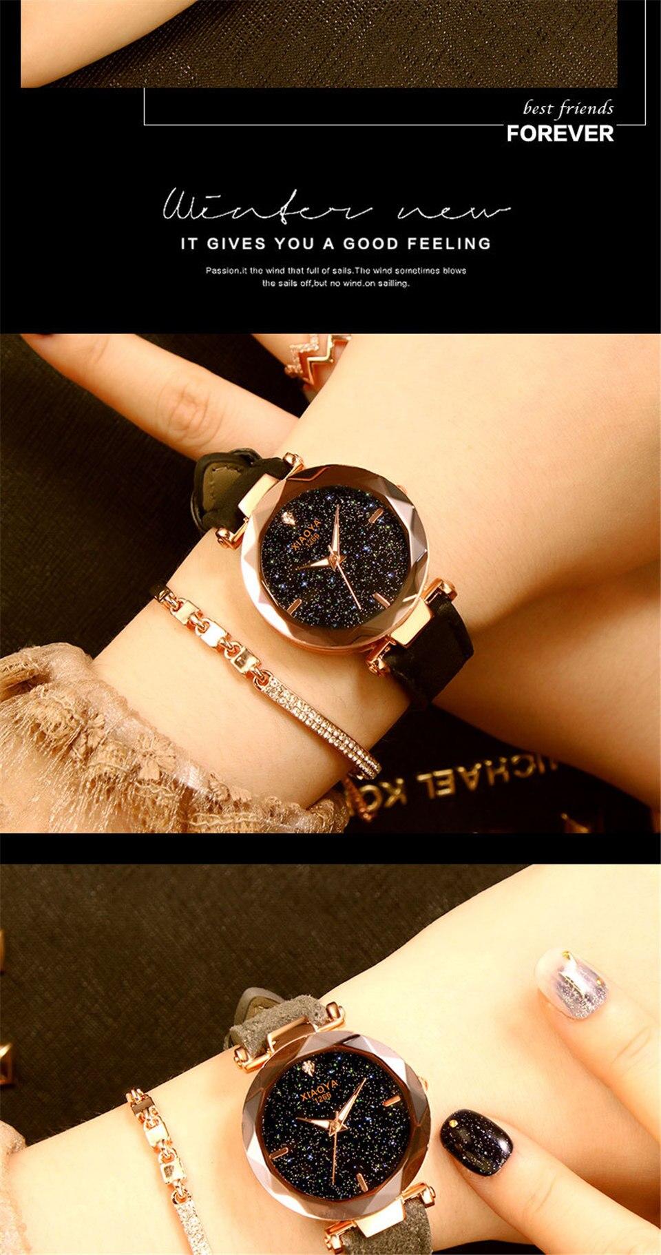 2018 Starry Sky Watch Women Minimalist Top Brand Luxury Wrist Watch For Ladies Female Clock Damski Montre Femme (12)