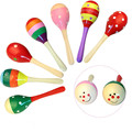 kids Wooden Rattles Sand hammer rattles toys early childhood toys training, hearing, exercise, grip strength rattles baby toys