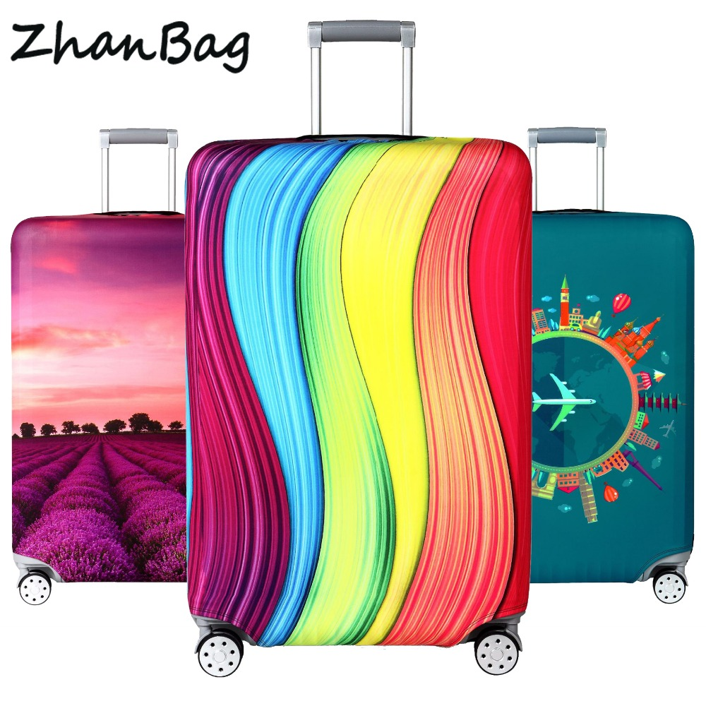 Elastic Travel Luggage Cover Dustproof Protective Travel Suitcase Cover For 18-32 Inch Trolley Bag Case Luggage Accessories