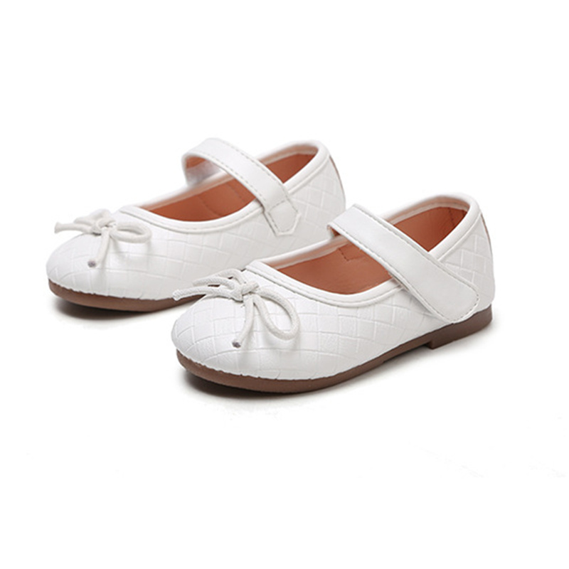 Spring ChildrenS Shoes For Girls Princess Shoes With Bow Kids Baby Leather Shoes Girls Casual Student Shoes