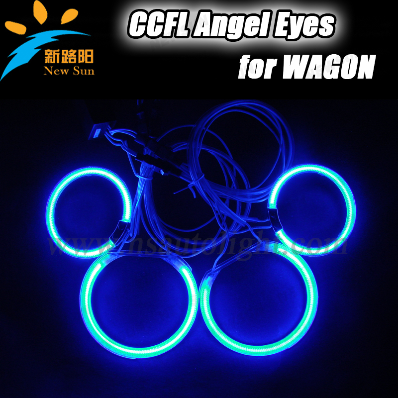 8000K Ultra bright multi-color 85mm & 105mm 12V CCFL angel eyes ring headlights for Wagon with 7 colors free shipping free shipping 4rings full circle ccfl angel eye ring for wagon frv with red blue yellow green purple white orange colors