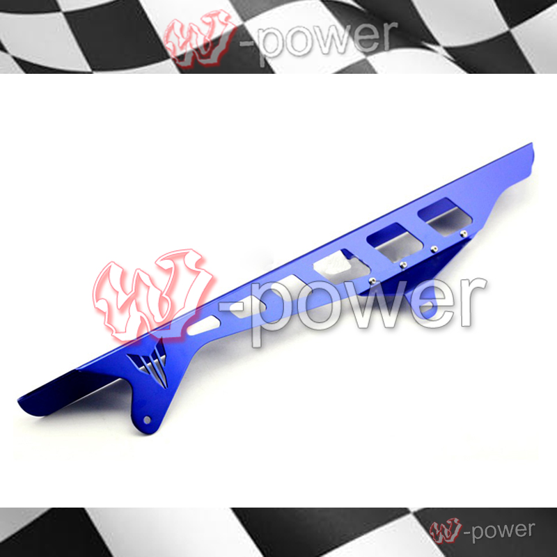 fite For YAMAHA YZF R25 / R3 YZF-R3 YZF-R25 Motorcycle Accessories CNC Aluminum Chain Guard Foil Cover Blue global pre intermediate coursebook