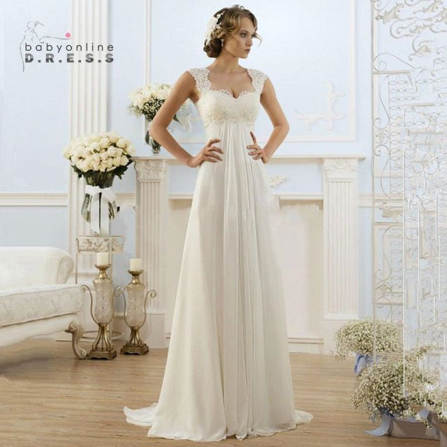 Robe De Mariage Cheap Simple Beach Wedding Dresses 2017 Lace