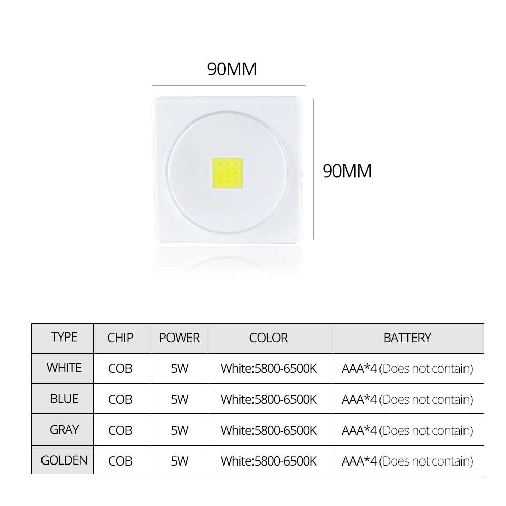 Foxanon LED Desk Light Battery Powered Magnets With Switch Reading Book Lights Portable COB Wall Lamp Easy Install DC 6V 5W
