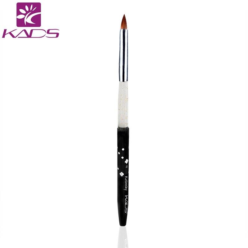 KADS Размер 4 #100 шт./компл. кисточка для ногтей, инструменты колонковая кисть Соболь черный Ногти кисть для нейл арта для ногтей Инструмент Акр