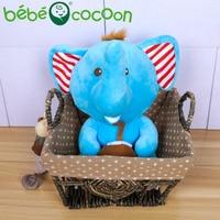 Bebecocoon Wholesale Free Dropshipping 30cm Colorful Giant Hawaii Elephant Plush Stuffed Animal Toy Animal Baby Toys