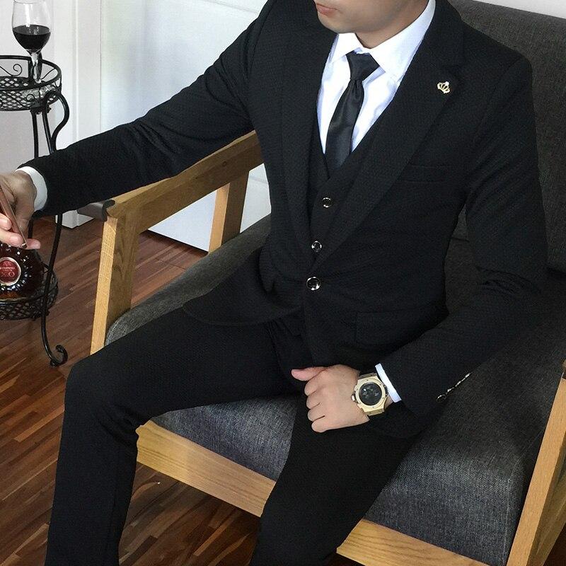 Más el tamaño 5xl traje masculino conjunto vestido formal Blanco - Ropa de hombre - foto 2