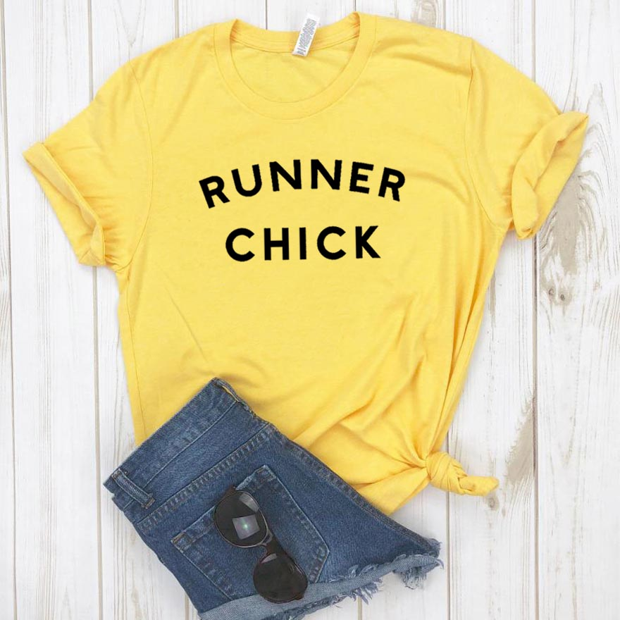 Runner Chick Women tshirt Cotton Casual Funny t shirt For Lady Girl Top Tee Hipster Drop Ship NA-141(China)