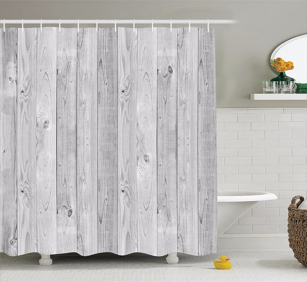 Gray Geometry Pattern Shower Curtains for Bathroom Accessories ...
