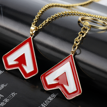 Hot Game Apex Legends Keychains Keyrings Red Letter Hero Logo Enamel Metal Pendant Keychains Fashion Jewelry Gift For Women/Men 2