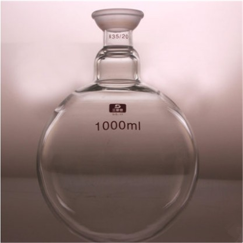 1000ml 35/20,Single Neck,Round Bottom Glass Flask,Round Neck,Chemical Boliling Vessel Lab Supplies