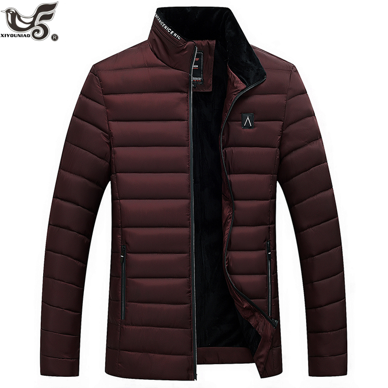 Winter Jacket Men Fashion Cotton-padded Down Jacket Mens Slim Fit Jackets And Coats Man Winter Parkas Clothes Size M~4XL