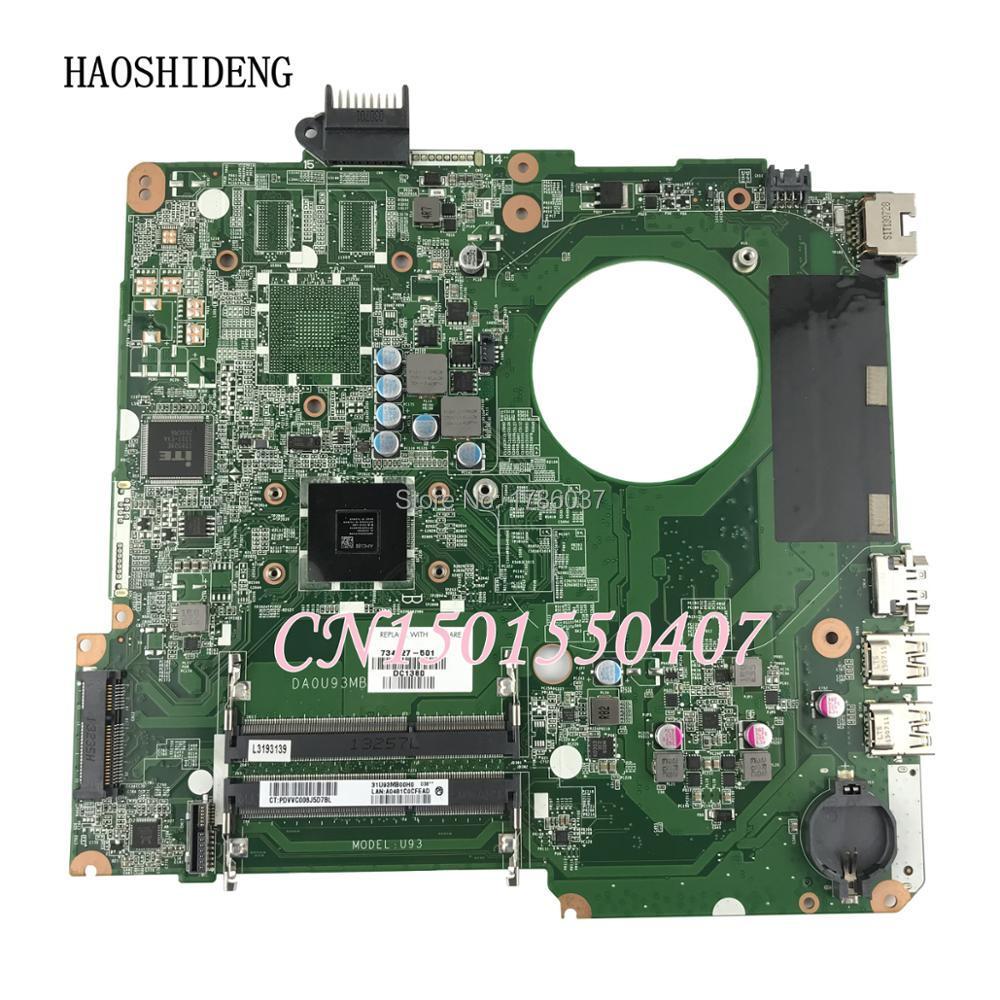 HAOSHIDENG 734827-501 734827-001 U93 For HP PAVILION TOUCHSMART 15T-N 15-N laptop motherboard DA0U93MB6D0 REV:D with A6-5200M 734827 001 734827 501 laptop motherboard a6 5200m cpu da0u93mb6d0 for hp 15 n series notebook pc 100