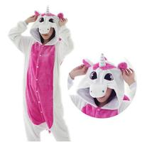 Pink Unicorn Pajamas Sets Flannel Cute Cartoon Animal Pajamas Sets Winter Soft Flannel Nightie Stitch Pyjamas