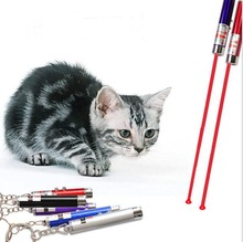 Fashion Random Color 1Pc Red Laser Pointer Pen Funny Children Play White LED Light Pet Cat Toys aa
