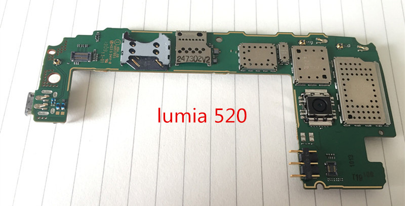 Choose Language ~Original Motherboard For  lumia 520 Mainboard Board Free shipping
