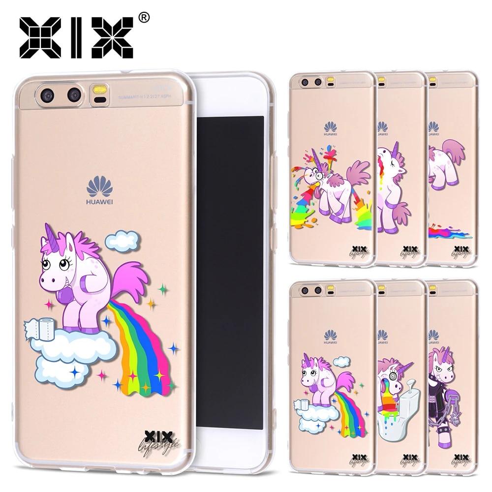 Pour Huawei P8 Lite coque licorne coque Huawei P9 Lite coque 2017 P10 P20 Lite Pro Plus P Smart Honor 6A 6X7X8 9 Nova 2 Mate 10