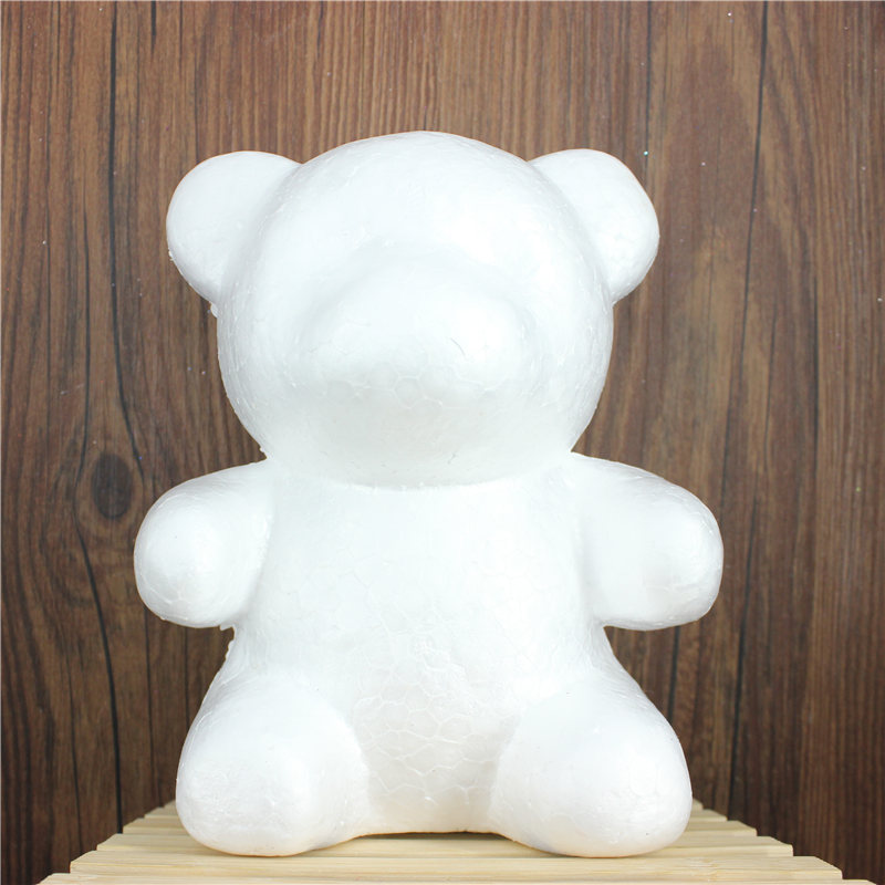 1 Pcs 160mm Modelling Polystyrene Styrofoam Foam Bear White Craft Balls For DIY Christmas Party