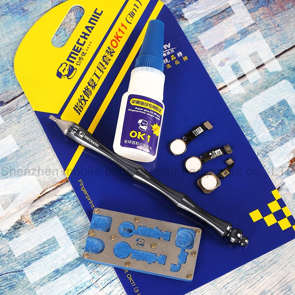 Купить с кэшбэком Machinery 3-in-1 Mobile Fingerprint Sensor Special Maintenance Toolbox Fingerprint Maintenance Adhesive + Knife + Location Fixtu