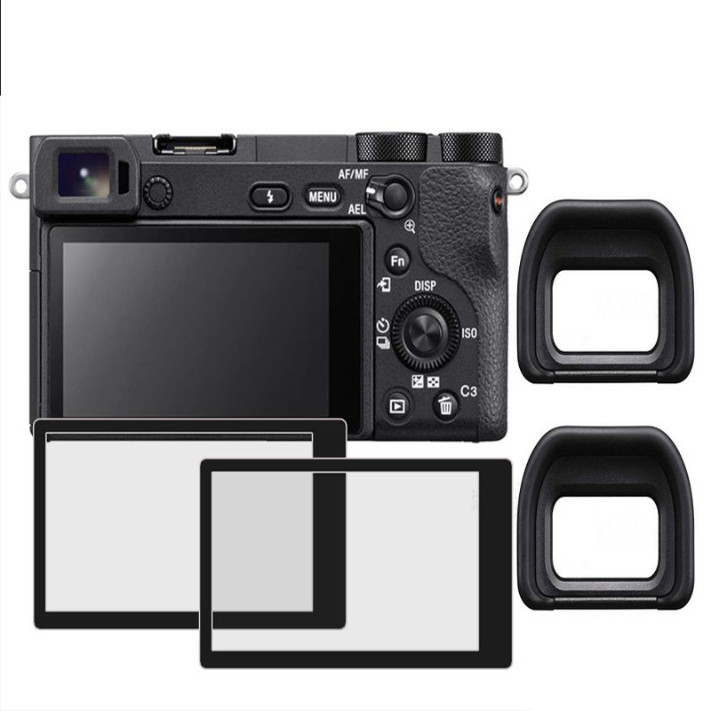 Debous Screen Protector + Eyecup Eye Cup Compatible for <font><b>Sony</b></font> DSLR <font><b>Alpha</b></font> A6500 ILCE-<font><b>6500</b></font> KIT Foils Tempered Glass Waterproof image