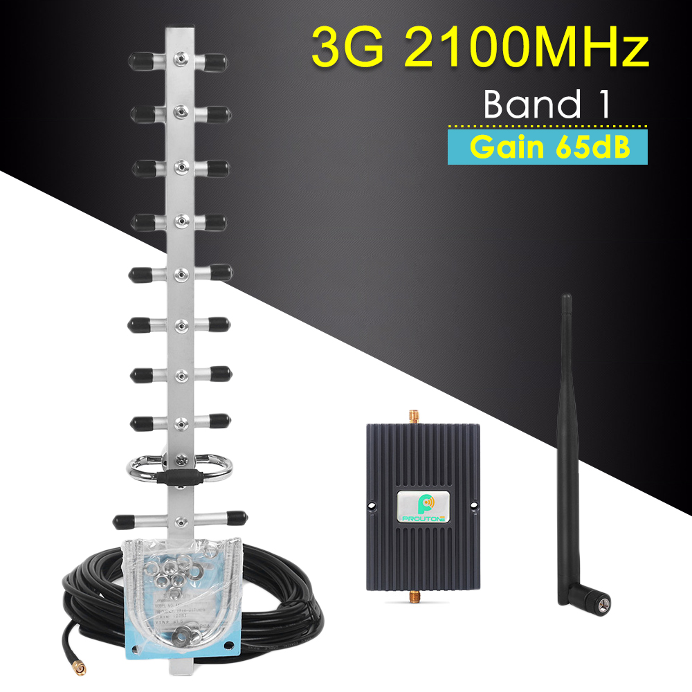 Cellular Signal Amplifier 3G Booster 2100MHz 65dB 3G WCDMA 2100MHz 3G UMTS Cellular Repeater Amplifier For Improve Phone Signal