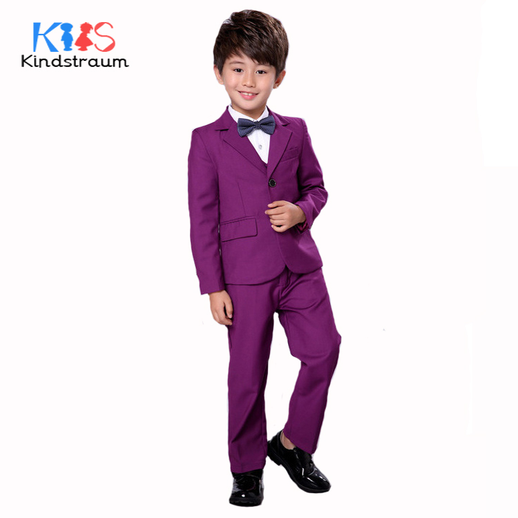 Kindstraum Boys Gentleman Wedding Suit 3pcs Kids Solid Fashion Blazer+Vest+Pant Brand Quality Children Formal Clothing Set,MC920 шарф paul smith серый page 3