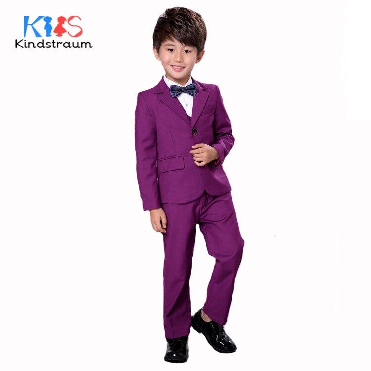 Kindstraum garçons Gentleman costume de mariage 3 pièces enfants solide mode Blazer + gilet + pantalon marque qualité enfants ensemble de vêtements formels, MC920