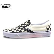 918e099d907 Vans Deslizar sobre Sapatos De Skate Originais Outdooor VN-0EYEBWW  Quadriculado Preto-e-branco Clássico para As Mulheres 35-39