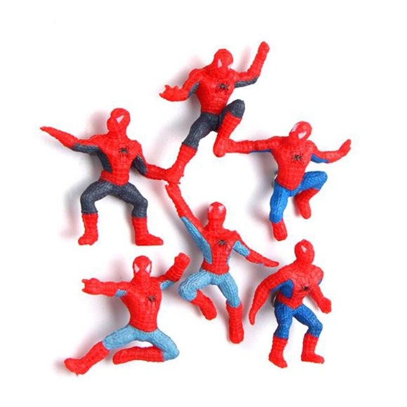 6 шт./партия милый мультфильм одежда «Супергерои» холодильник магнитная Стикеры Человек- ...