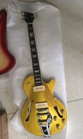 Wholesale New Arrival Custom Jazz Electric Guitar Goldtop Semi Hollow Body P90s Pickups With Bigsby In Gold 180720
