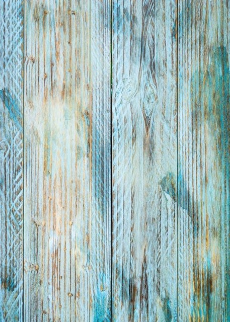 Blue Vintage Rustic Old Natural Real Hard Wood Backgrounds Vinyl Cloth High Quality Computer Print Party
