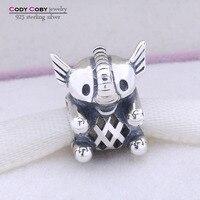 European Style Authentic 925 Sterling Silver Elephant Charm Animal Beads Fit Pandora Bracelet For Women Diy