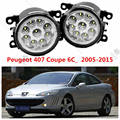 for PEUGEOT 407 Coupe 6C 2005-2015 front bumper high brightness LED Fog lights Halogen lights Car styling white 1 set OE 620639