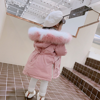 NEW Baby girl clothes 2018 Winter parka for girls Solid Down jacket kids winter jacket Ooutwear warm causal children's clothing
