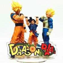 Dragon Ball Z akrylowa podstawa figurki 60mm zabawki modele Dragon Ball Super Anime figurka wyświetlacz akrylowy stojak