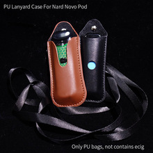 PU Leather Necklace Lanyard Case For Smoke Novo Nord Pod Cover Carrying Bag Pouc