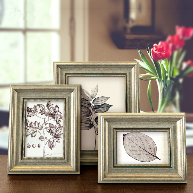 Vintage Olive Green Style Table Photo Frames 6 7 8 10 Inch Diy