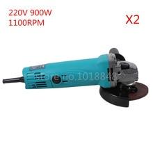 2pcs/Lot 220V 900W 11000r/m Wheel Dia 100mm Angle Grinder Polishing machine Grinding Machine