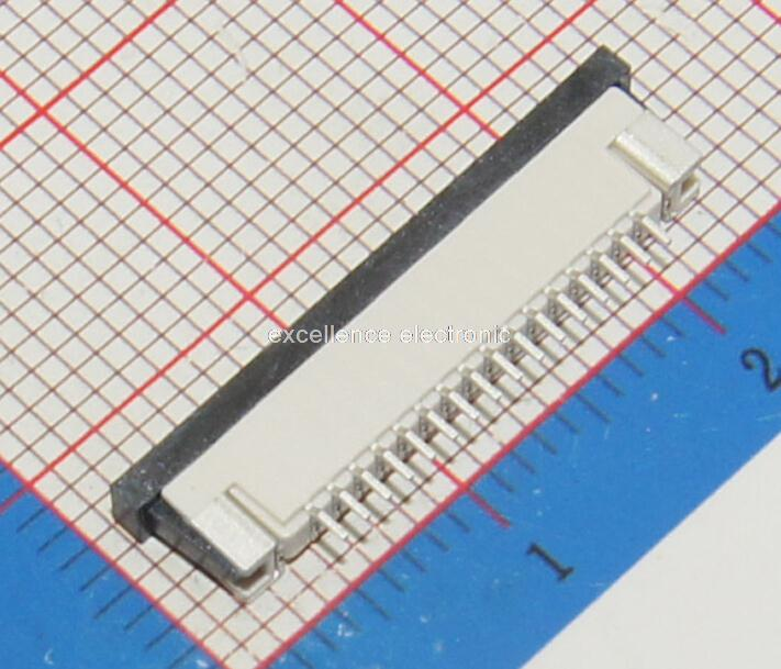 50 Pcs FPC FFC 1mm Pitch 16 Pin Drawer Type Ribbon Flat Connector Top Contact 50 pcs fpc ffc 0 5mm pitch 6 pin drawer type ribbon flat connector top contact