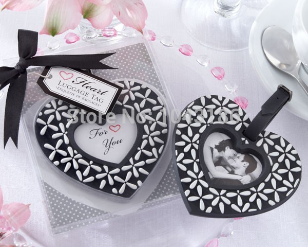 Wedding party favor baby shower party gift for guests - Follow Your Heart Black and White Luggage airplane tag 50pcs/lot