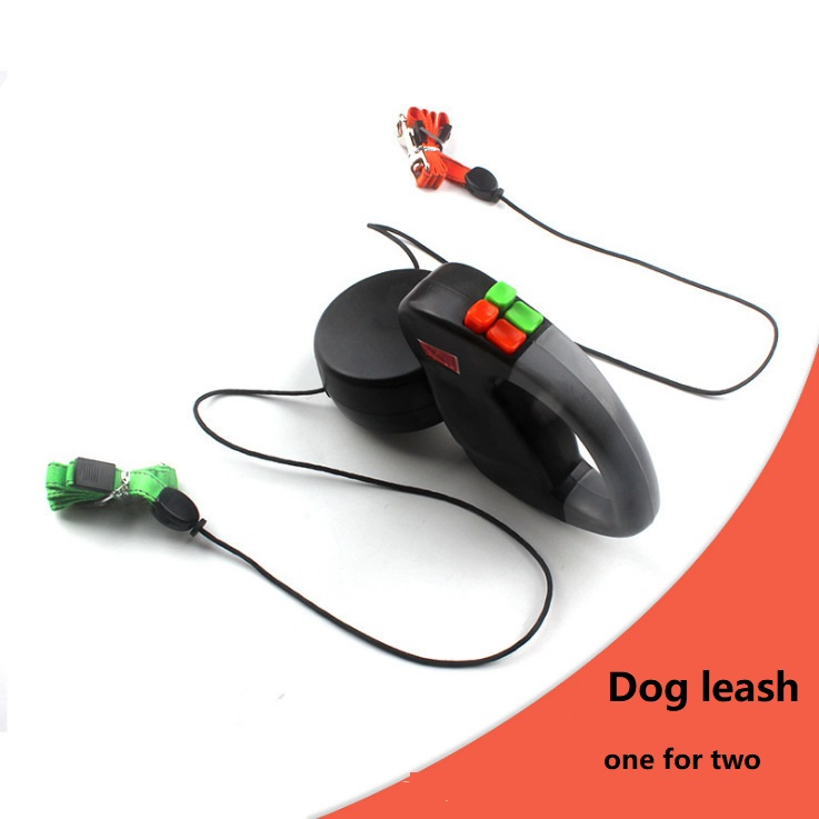 Leash for two dogs 3M Pet double-headed traction rope automatic one for two double-headed dog lead dog leash dog supplies