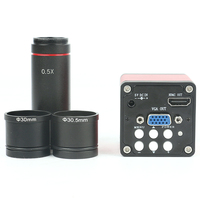 720P 13MP CMOS HDMI VGA Digital Electronic Microscope Camera + CCD 0.5X Eyepiece Lens for Binocular Trinocular Stereo Microscope
