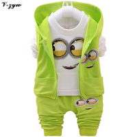 2017 Autumn Boys Clothing Sets Kids Coat Jacket T Shirt Pants 3 Pcs Children Sport Suits