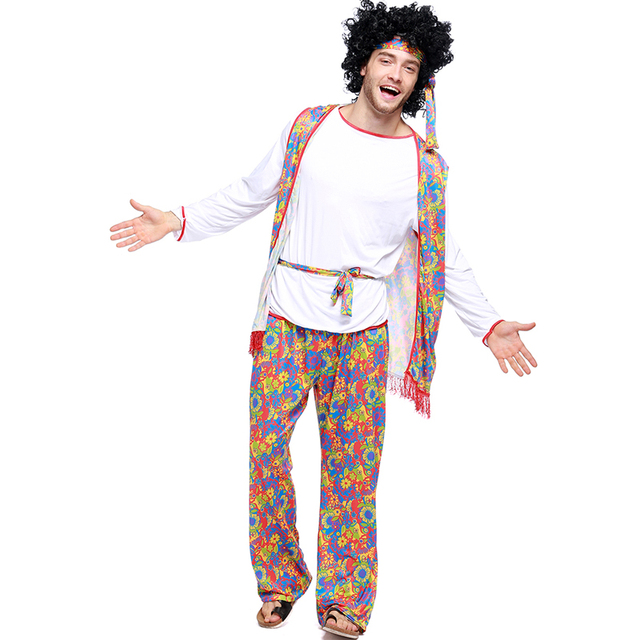 Adult Male Fun and Fantasias Hippie Cosplay Costumes 50u0027s 60u0027s 70u0027s Hippy Fancy Dresses Halloween Outfit  sc 1 st  AliExpress.com & Adult Male Fun and Fantasias Hippie Cosplay Costumes 50u0027s 60u0027s 70u0027s ...