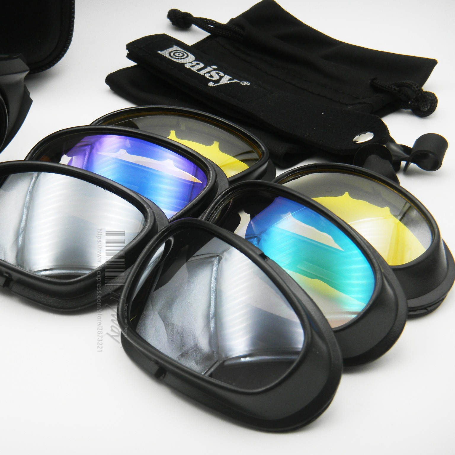 f7091bec22bf Daisy C5 Polarized Sunglasses Military Goggles Bullet Proof Desert ...