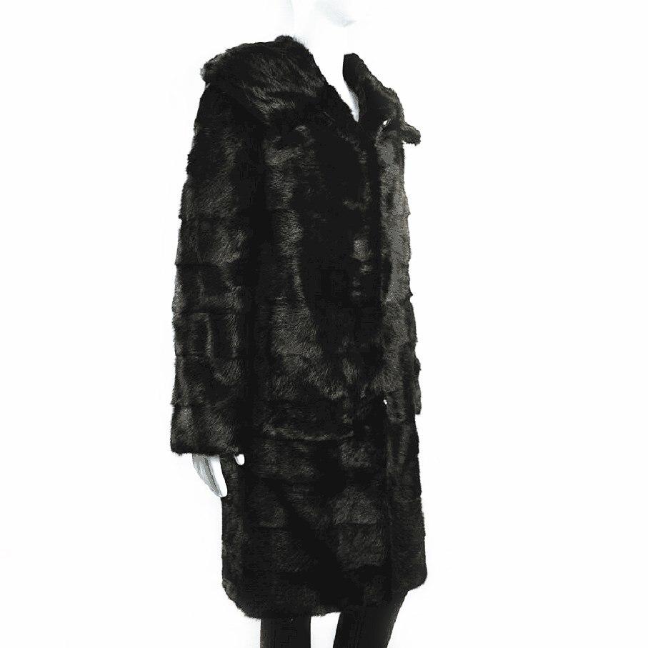 2018 женский новый норковый мех настоящий желтый волк мех с шапочкой пальто Европейский станция зима теплая Модная шуба высокий уличный стил