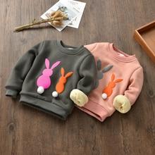 Girls plus cashmere sweater coat small children new autumn and winter 2017 children thick warm jacket girls primer shirt