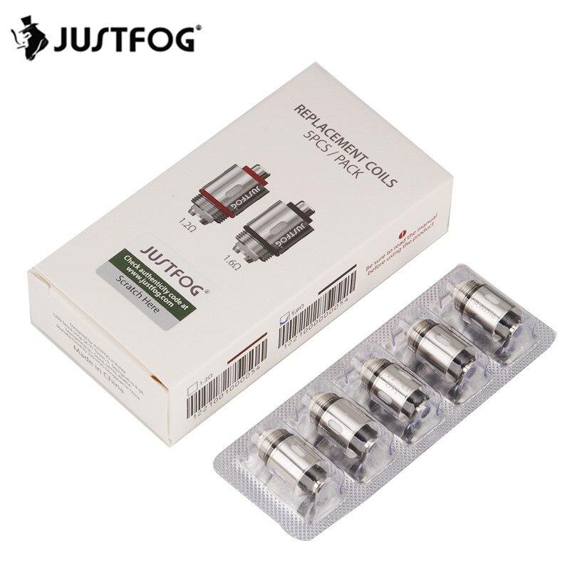 5pcs JUSTFOG Coil Head Core 1.2ohm 1.6ohm For Justfog C14 Q14 Q16 P16A P14A Kit Atomizer Justfog Electronic Cigarette Vape Kit