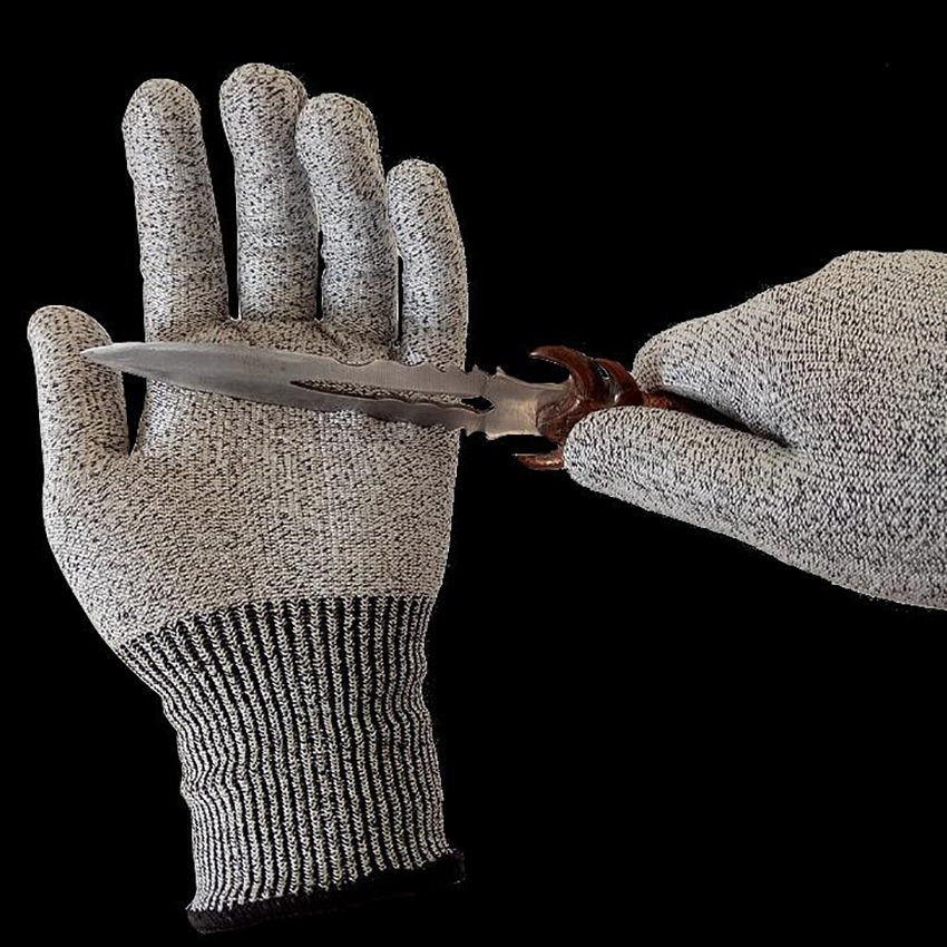 1 Pairs Level 5 Against The Cut Gloves Anti-Cut Glove Working Gloves Cut Proof Stab Resistant Safety Gloves
