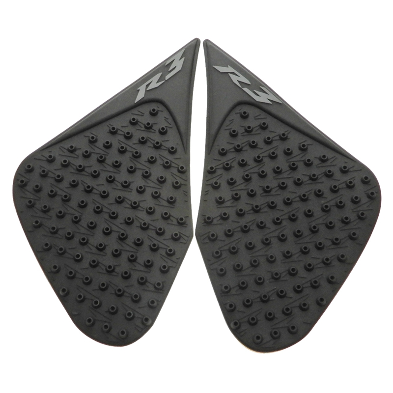KEMiMOTO Motorcycle Black Tank Pad Side Gas Knee Grip Stickers for Yamaha R3 2015-2017 R6 2006-2007 R1 2004-2017 MT09 2014-2016